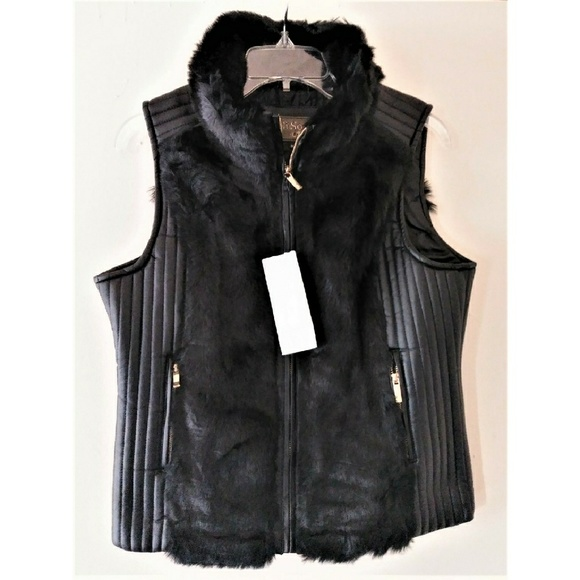 ultrachicfashion.com Jackets & Blazers - Fur Vest w/ Leather